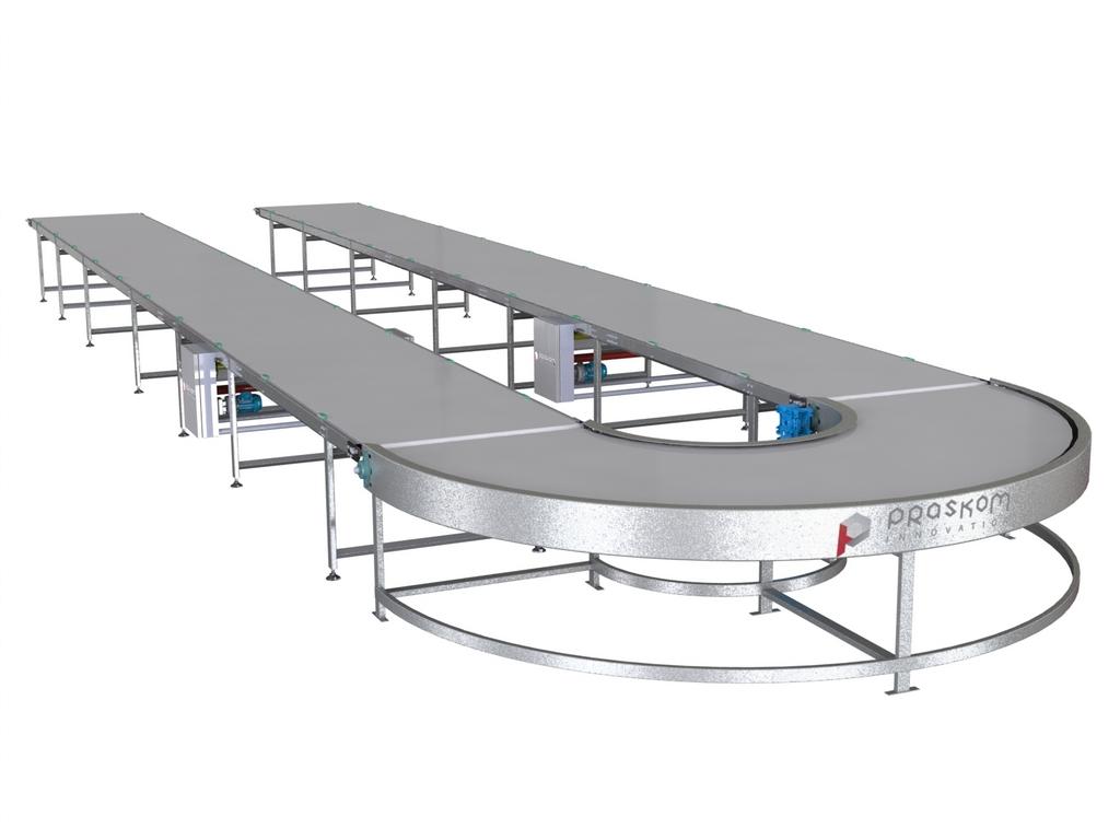 Ленточные транспортеры для пищевой промышленности под углом