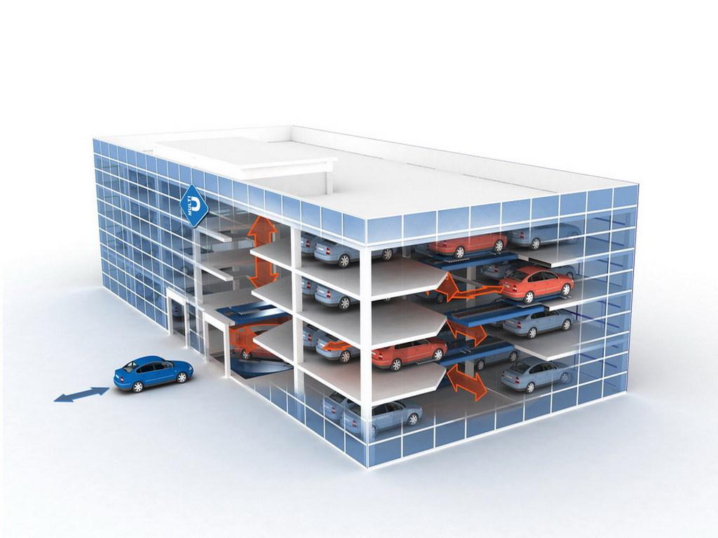 Визуализация модели автоматизированных паркингов №2
