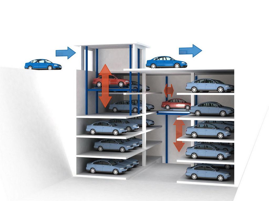 Визуализация модели автоматизированных паркингов №3